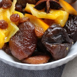 Dried fruit salad, honey & lemongrass