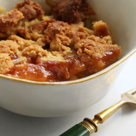 Rhubarb & orange gluten-free crumble