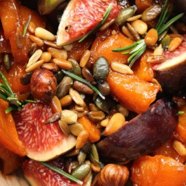 Sweet Potato, Fig & Seeds Salad
