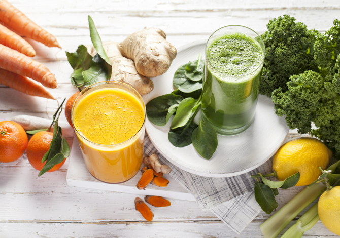 Green juices and smoothies for winter