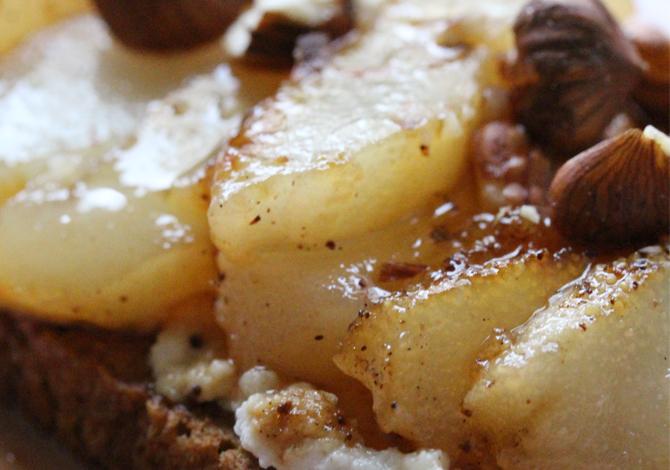 Roasted Pears, Ricotta & Spelt