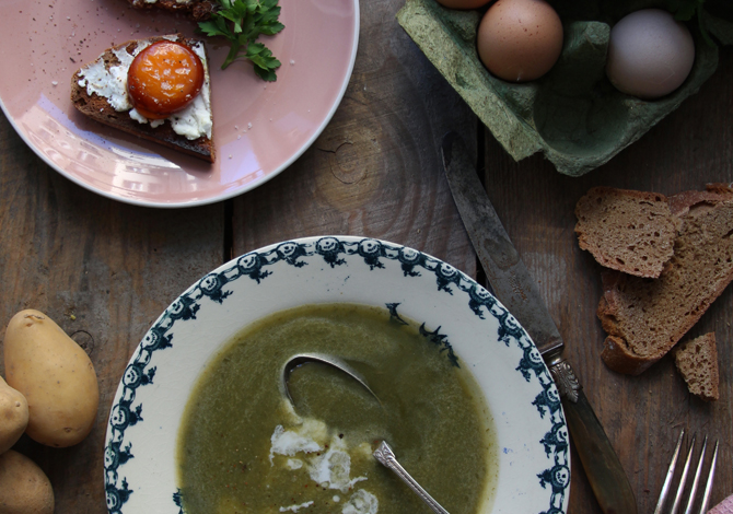 Sorrel, Spinach & Coconut Cream Soup