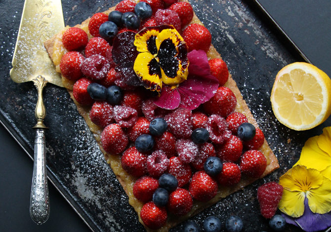 Gluten-Free Red Berry & Lemon Curd Tart
