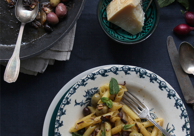 Olive & Caramelized Onion Penne